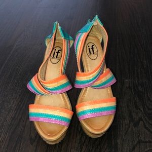 Colorful wedges perfect for summer